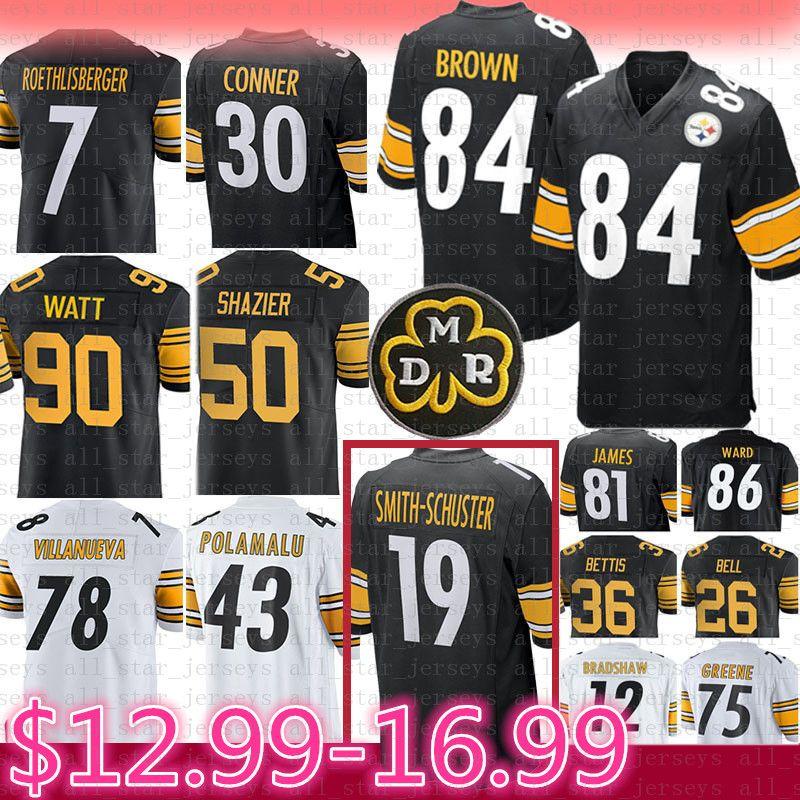 628f7b102 Compre 90 T.J. Watt 84 Antonio Brown Jersey Pittsburgh 19 Steelers Juju  Smith Schuster 36 Shazier Roethlisberger Bettis Conner Polamalu Villanueva  A  27.79 ...