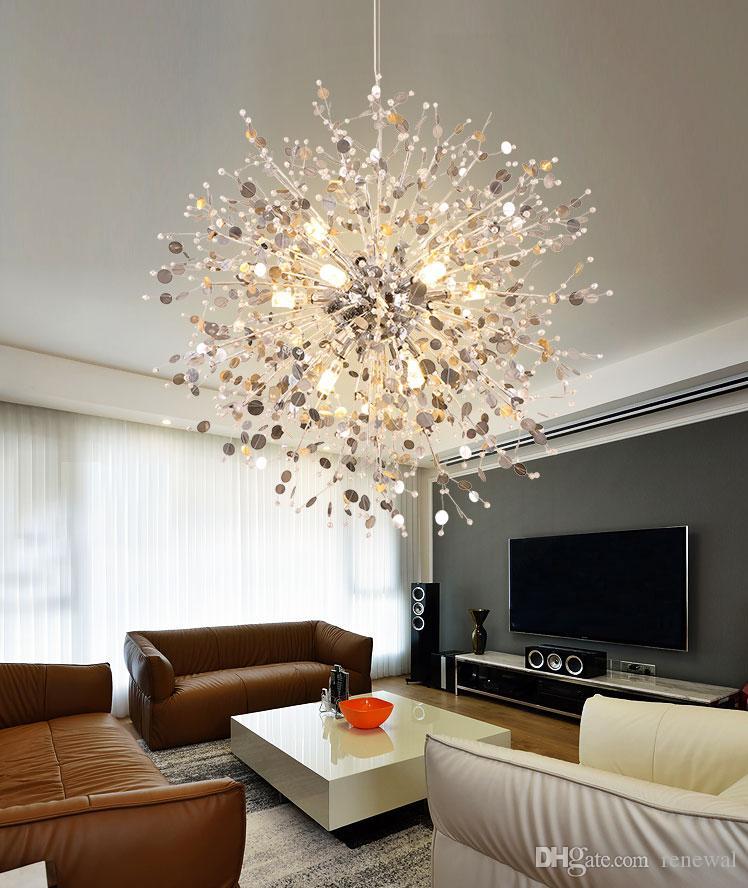 2019 Neuer Stil Moderne Led Kristall Deckenleuchte Lampe Mit 5 Lichter Für Wohnzimmer Lüster Kostenloser Versand Deckenleuchten Licht & Beleuchtung