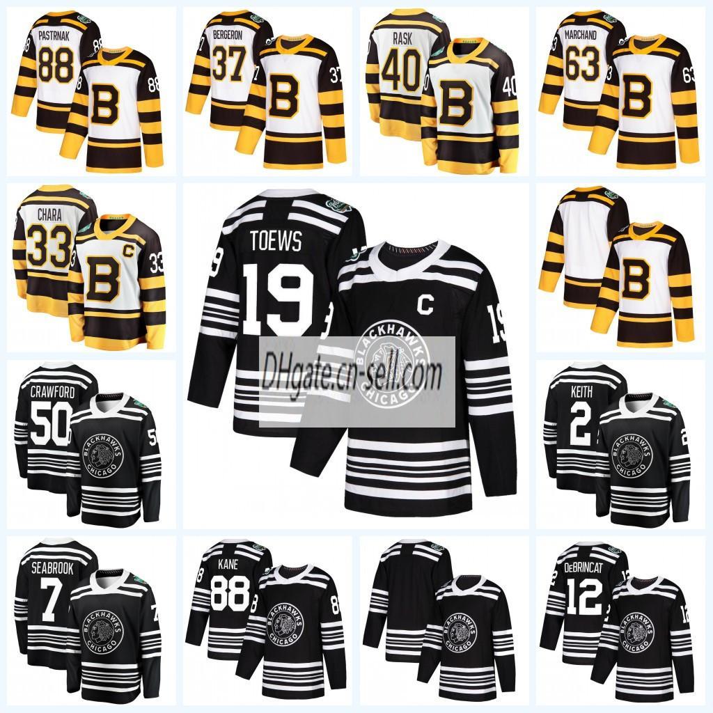 32e0287446e Großhandel Herren Lady Kids Chicago Blackhawks Boston Bruins 2019  Klassisches Eishockey Eishockeytrikot Duncan Keith Toews Corey Crawford Von  Since, ...