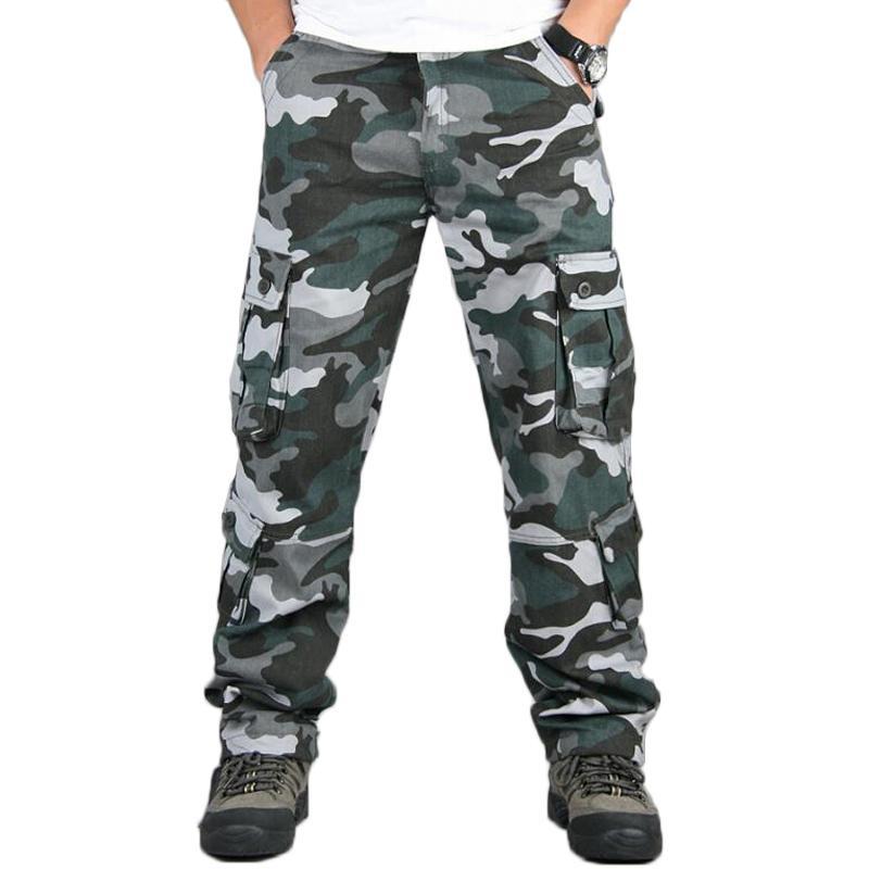 acquisto economico def10 552b9 Pantaloni Camo Pantaloni Militari Multi Tasche Cargo Pantaloni Hip Hop  Jogging Streetwear Tuta Urban Outwear Pantaloni tattici camouflage