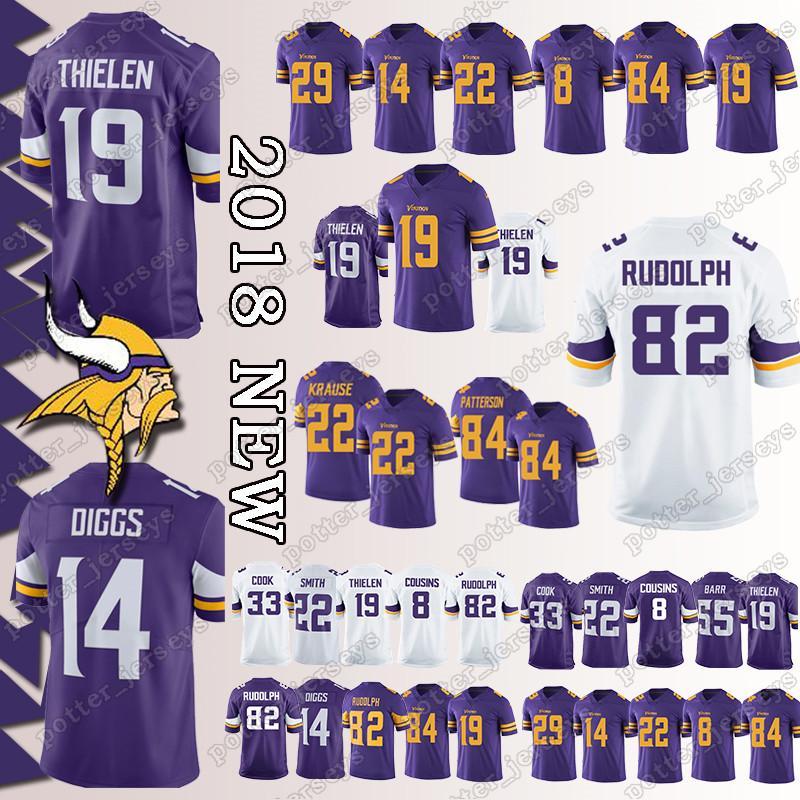 2019 Cheap Sales Minnesota Vikings Jerseys 99 DANIELLE HUNTER 19 Adam  Thielen 14 Stefon Diggs 8 Sam Bradford 22 Harrison Smith 82 Rudolph Jersey  From ... 48e363ce3