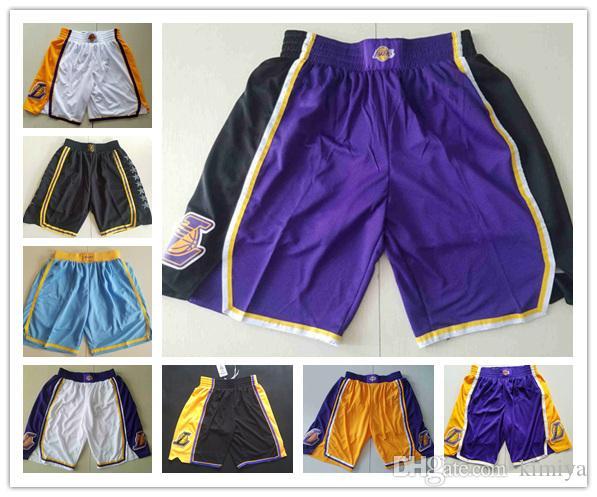 b2f421624 2019 Men S L.A. LAL Lakers Jersey 2018 19 Statement Edition Swingman  Basketball Shorts From Taitaiya