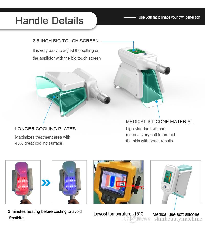 Super 5S Cryo handles 360 Cryo Double Chin Removal Mini Handle Fat Removal Small Body Part Fat Reduction
