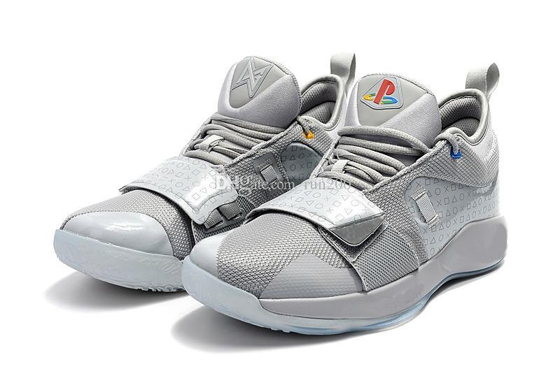 best sneakers 0b615 0e3f4 PG 2.5 Playstation Wolf scarpe grigie per le vendite Con la scatola Top  Quality nuove scarpe da basket Paul George spedizione gratuita BQ8388