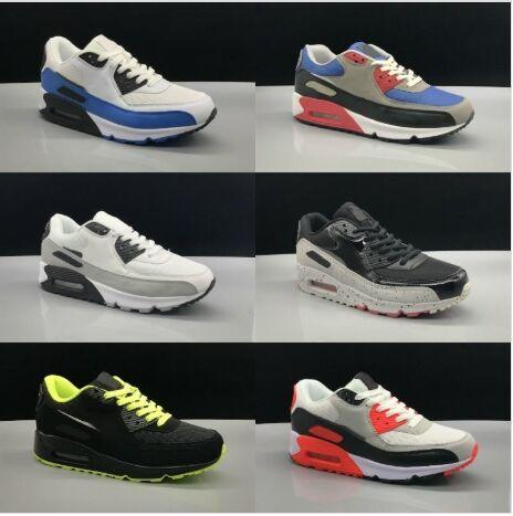 ea577985c Cheap Sales 2019 New Air Cushion 90 Casual Running Shoes Men Women Cheap  Black White Red 90 Sneakers Classic Air90 Trainer Outdoor Sports Shoes