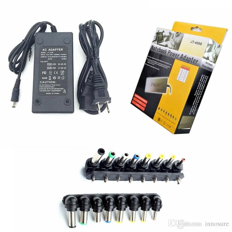 Free Shipping Hot Universal 96W Laptop Notebook 15V-24V AC Charger Power  Adapter With 8 Detachable Connectors Voltage Adjustable