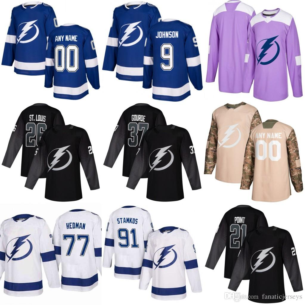 96e66504c Yonth Tampa Bay Lightning 91 Steven Stamkos 21 Brayden Point 13 ...
