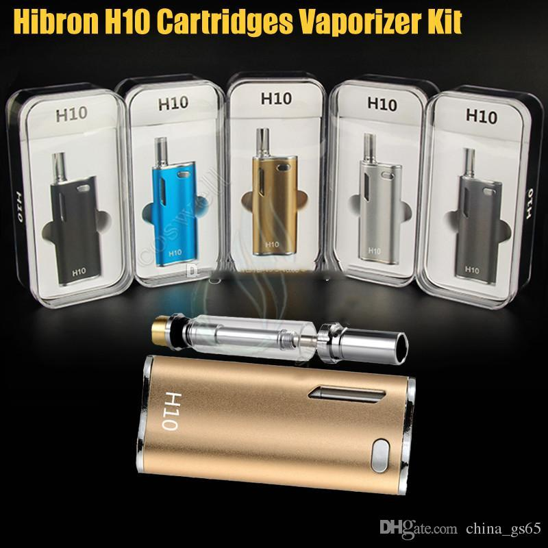 Authentic Hibron H10 Oil Starter Kits 650mAh Battery Box Mod 0.8ml H10 Upgraded CE3 Atomizer Vape Pen Vaporizers 100% Genuine