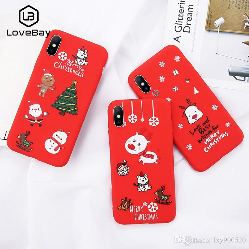 9fa8d19a2c Lovebay Phone Case For IPhone 6 6s 7 8 Plus X XR XS Max Cute Cartoon  Christmas Santa Claus Elk Soft TPU For IPhone 5 5S SE Cover Cell Phone Hard  Cases ...