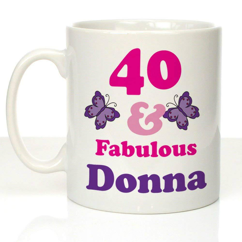 40 And Fabulous Personalised Mug 40th Birthday Gifts Presents For Her Cheap Mugs Tea From Lgqin 1006