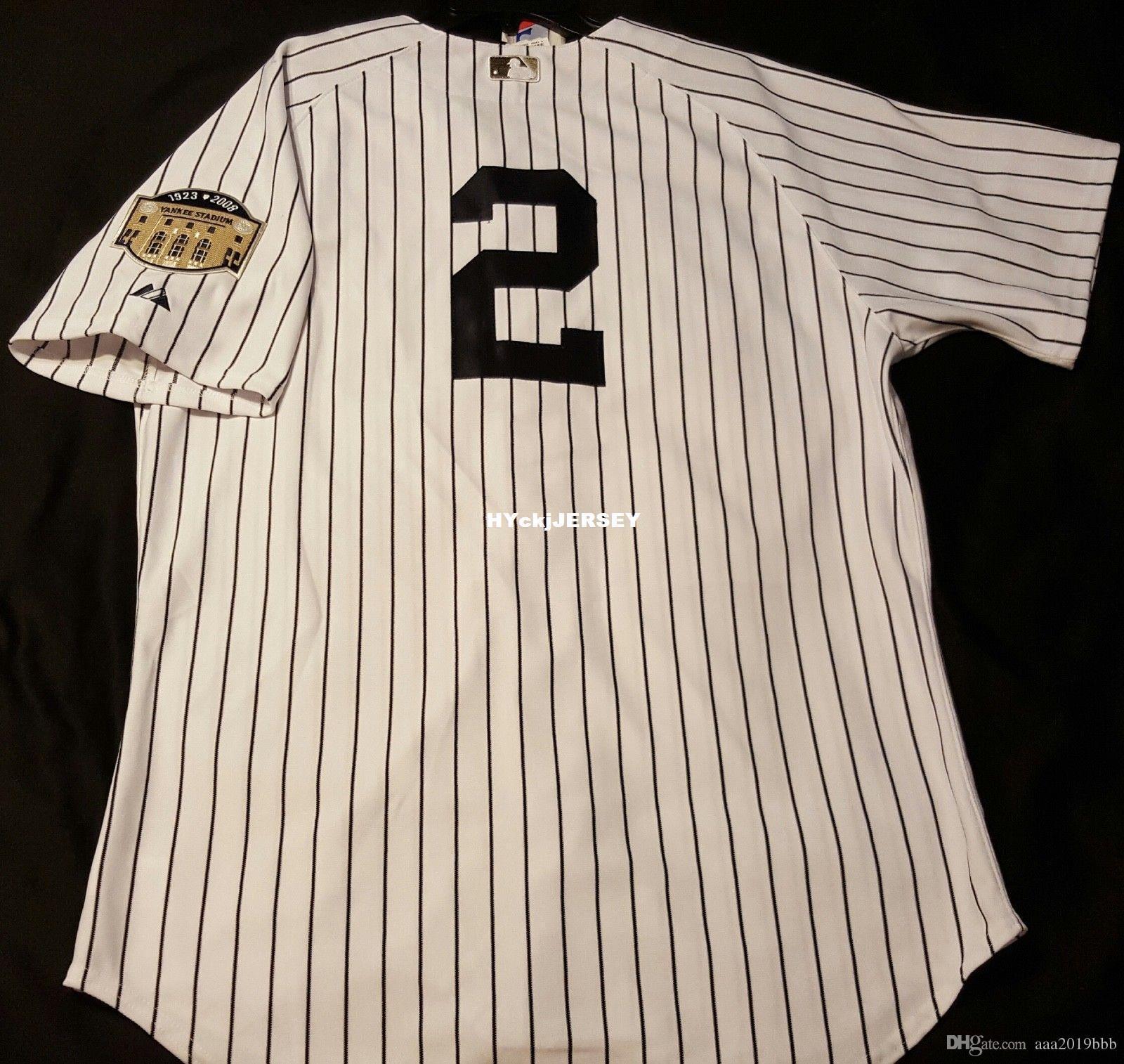 new styles b9d47 4dd85 Cheap Majestic NEW YORK DEREK JETER #2 ON FIELD Jersey Mens Stitched  Wholesale Big And Tall SIZE XS-6XL baseball jerseys