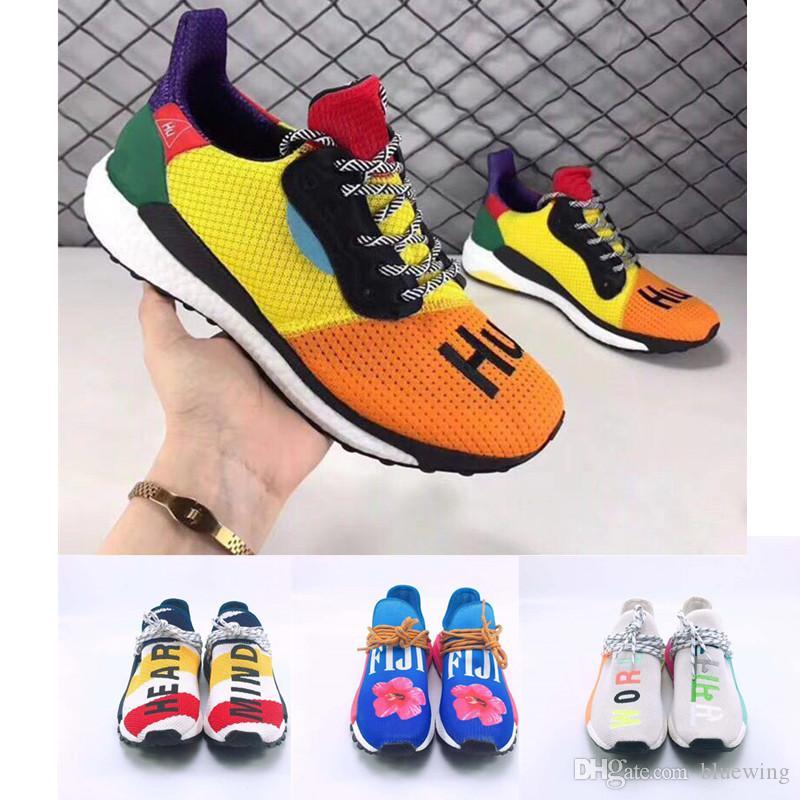 eba41e386 Compre Pharrell Williams SOLARHU Hombre Zapatillas De Running Negro ...