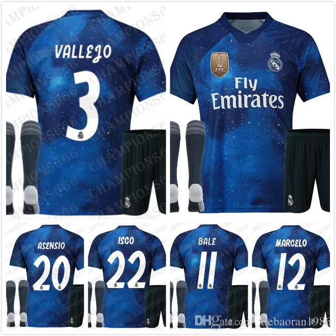 2019 2019 Real Madrid Limited Edition Soccer Jersey Blue EA Sports Jerseys   12 MARCELO  10 MODRIC Real Madrid Special Version Suit For Adults From ... 367919dc8