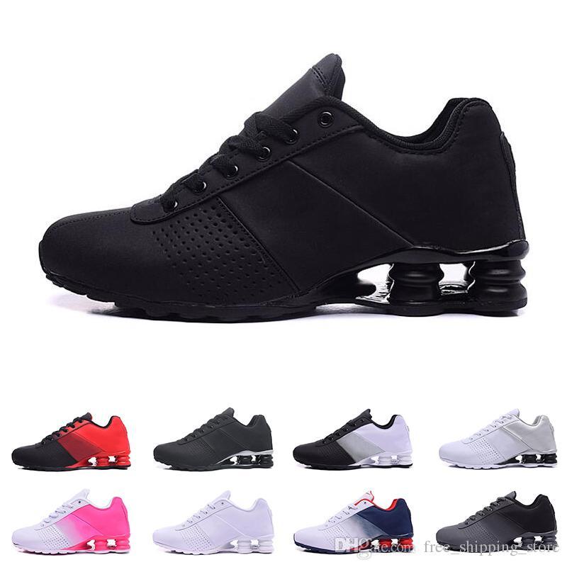 buy popular ac0a9 79e2c Großhandel 2019 Nike Shox Liefern 809 Kissen Schuhe Für Männer Frauen  Designer Herren Trainer Dreifach Schwarz Weiß Lila Frauen Laufschuhe Mode  Sport ...