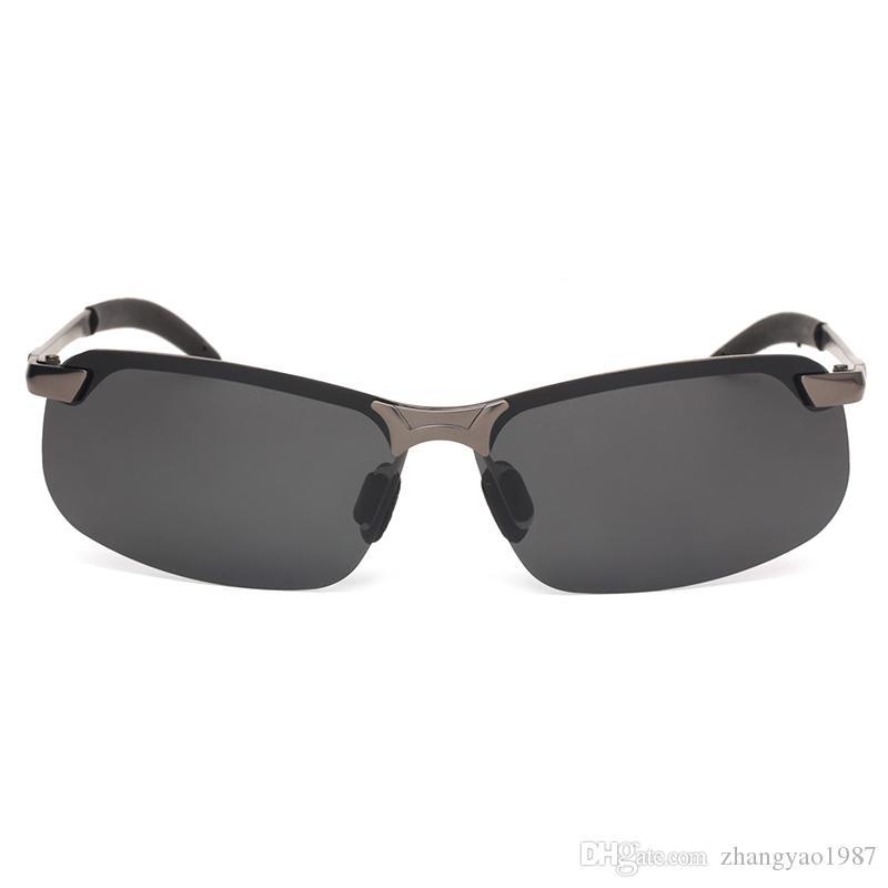 a99729afbcde High-end Brand Designer 2019 Polarizer Sunglasses Men's Sunglasses Driver's Sunglasses  Metal Half-frame Fishing Glasses