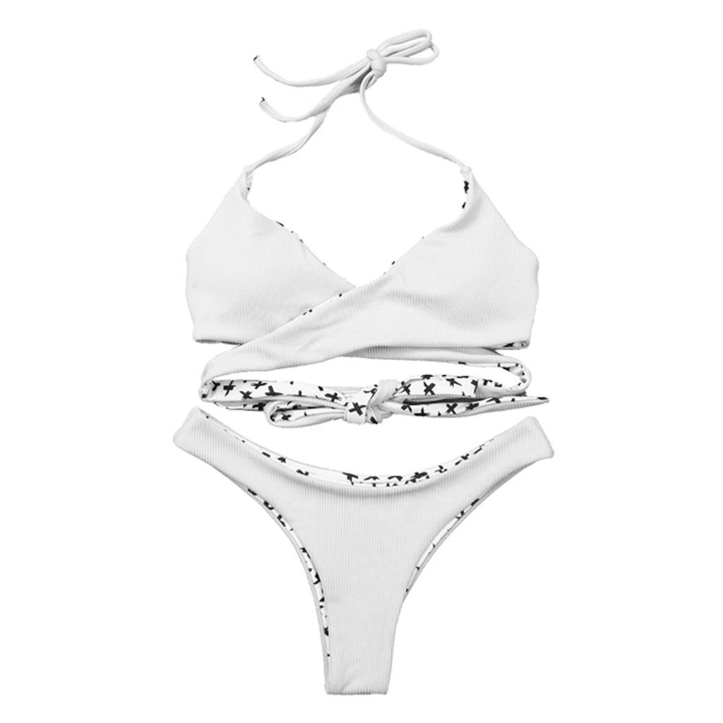 ca43502df320a4 2019 Bikini Two Piece Women Sexy Solid Bandage Tankini Set Bikini Swimwear  Bathing Swimsuit Beachwear Badeanzug Damen Push Up #7 From Qackwang, ...