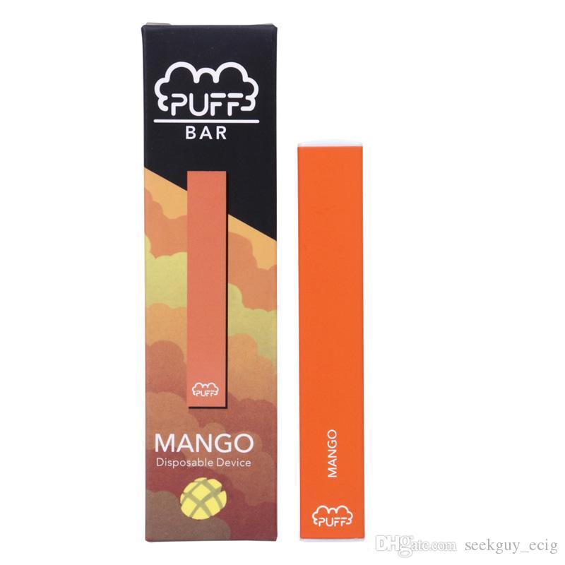Puff Bar Disposable Pod Starter Kits 280mAh Battery 1.3ml Cartridge Device Pods Vape Pen Device Kit LUSH ICE 4 Flavors In Stock DHL