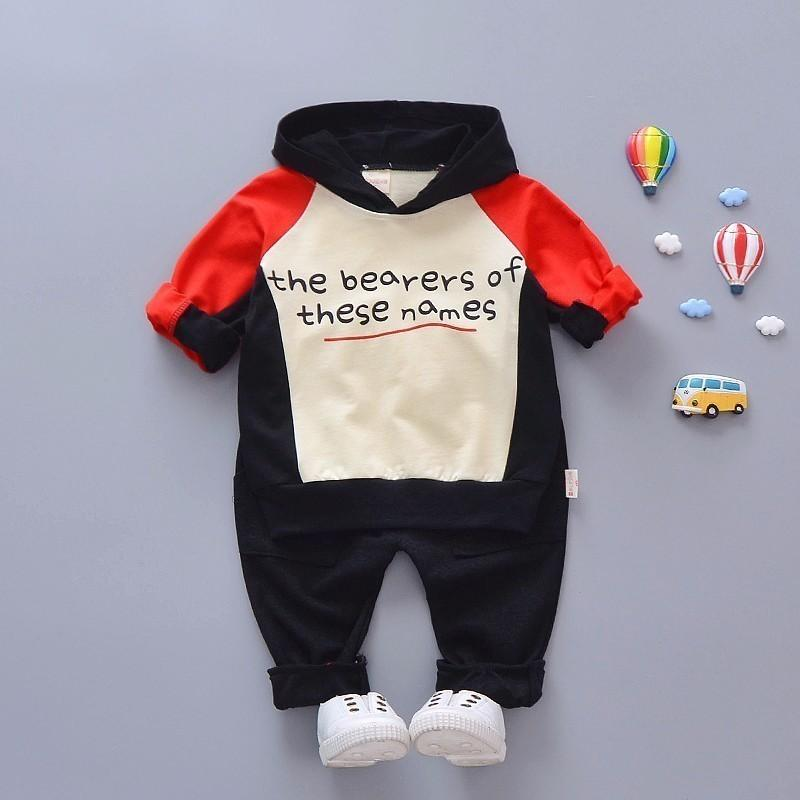 3ac84fa87 Compre 2019 Nueva Primavera Ropa Infantil Kid Deportes De Dibujos Animados  Con Capucha Pantalones 2 Unids / Set Niños Niño Chándal Bebé Niños Ropa De  La ...