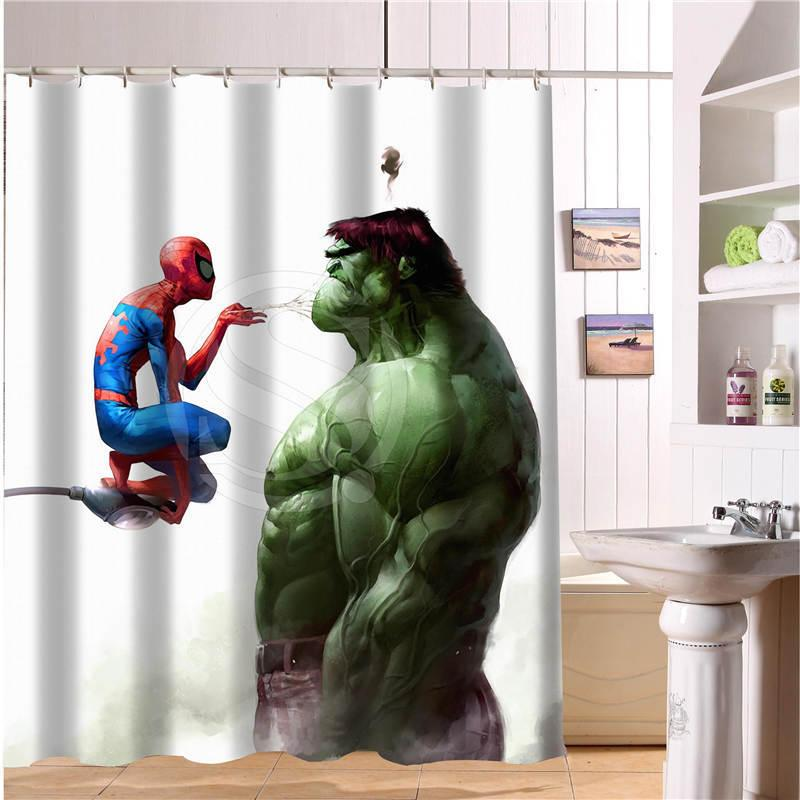 2019 Custom The Avengers Marvel Hero Shower Curtain New Large European And American Big Ideas Print Edition Polyester Bath C18112201 From