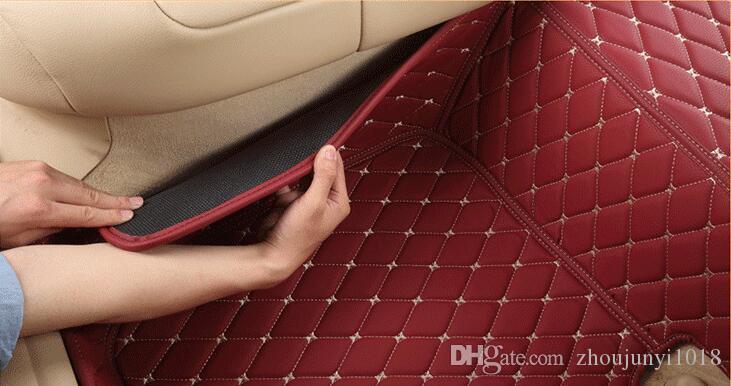 Tapis de sol pour Ford Connect 2014-Caoutchouc Noir Anti-Dérapant Set Habitacle de coffre