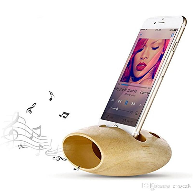 Newnest Call Phone Charging Dock, Natural wood Docking Station iPhone Stand  Holder Sound Amplifier for iPhone XS MAX 8 7 6S Plus huawei