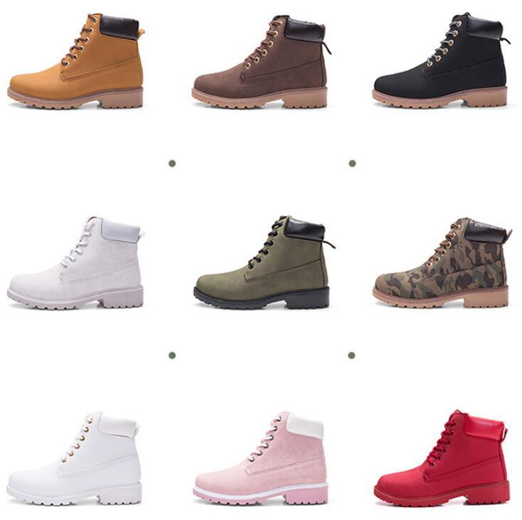 51ba8ac7c2c17 2019 Hot New Autumn Early Winter Shoes Women Flat Heel Boots Fashion Keep  warm Women's Boots Brand Woman Ankle Botas Camouflage