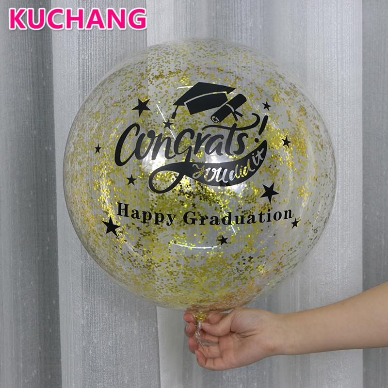1pack DIY Clear Transparent Bubbles Balloons Stickers Happy 16th 18th 21st 30th Birthday Graduation Party Decorations Supplies