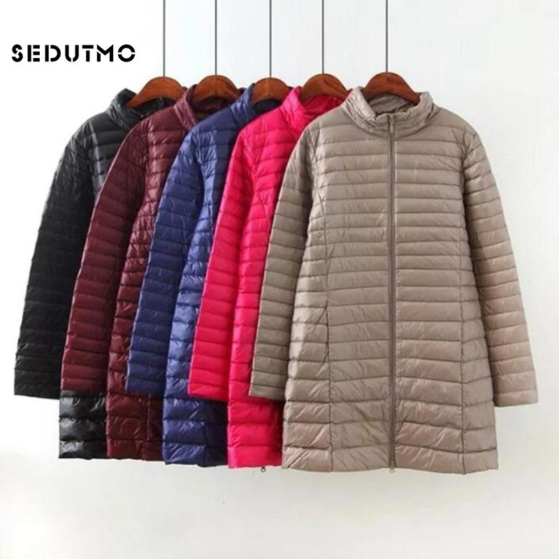 c96488ac699 2019 SEDUTMO Winter Plus Size 4XL Down Jackets Women Long Ultra Light Duck  Down Coat Slim Puffer Jacket Autumn Parkas ED619 From Gavinuni
