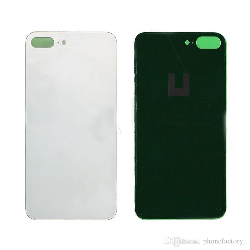 size 40 10c9f b108e 10pcs For iPhone X Back Battery Cover Back Glass Logo Adhesive Rear Door  Panel Glass Housing Case Repair Replacement Part for iphoneX