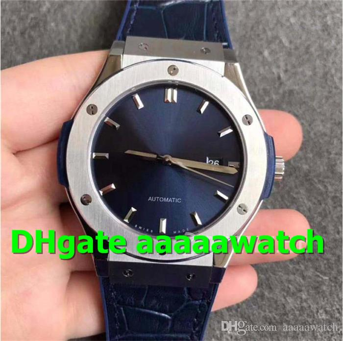 SR 511.NX.7170.LR Mens Watch 2892 Automatic Movement 28800VPH 45mm Titanium Case Blue Strap Sapphire Crystal Swiss Designer Watches