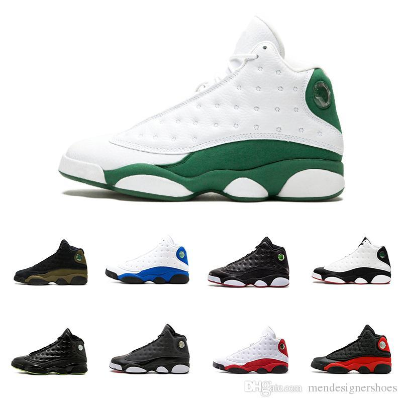359fb73a73b496 With Box Shoes 13 XIII 13s Men Basketball Shoes Women Ray Allen Bred Black  Brown White Hologram Flints Grey Sports Sneakers Size5.5 13 Shoe Shops Brown  ...
