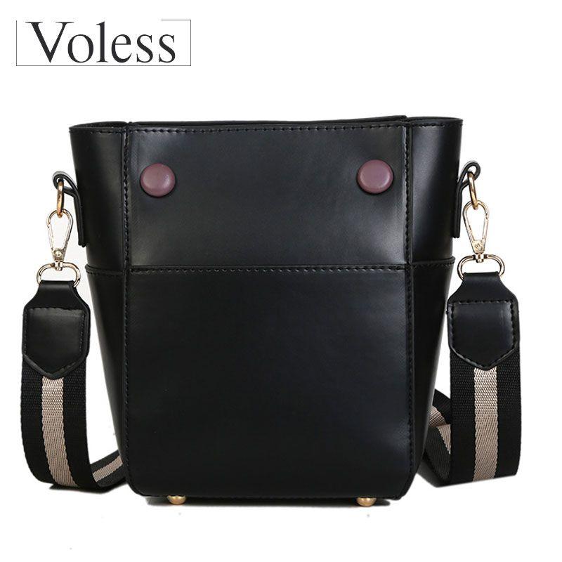 VOLESS Hot Sale High Quality PU Leather Women Shoulder Bags Large Capacity  Women Bucket Bags Female Handbag Shopping Bag Discount Designer Handbags ... e2b9ed580e887