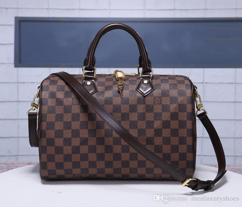 3e3c886b92c SPEEDY Brand Top quality Lady Real oxidizing genuine Leather 25cm 30cm 35cm  handbag with shoulder strap purse tote bag 30/25/20/16cm