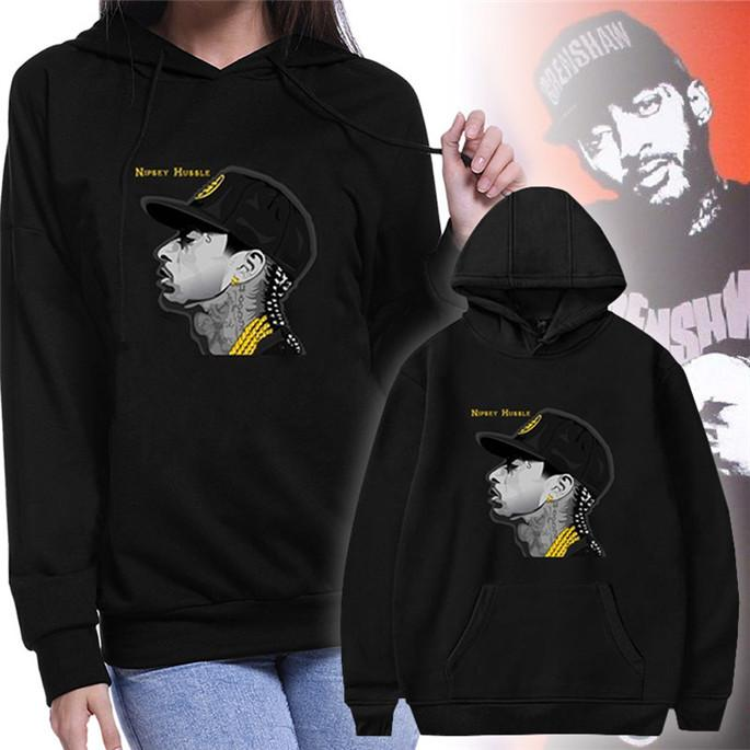 Nipsey Hussle Womens Designer Hoodies Spring Long Sleeve Pullover O Neck Womens Sweatshirts Fashion Black Print Hoodies