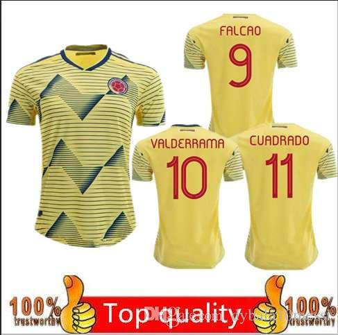 hot sale online e9958 77909 new Colombia soccer jersey copa america 2019 colombia football shirt JAMES  Rodriguez Camiseta de futbol FALCAO CUADRADO maillot de foot cami