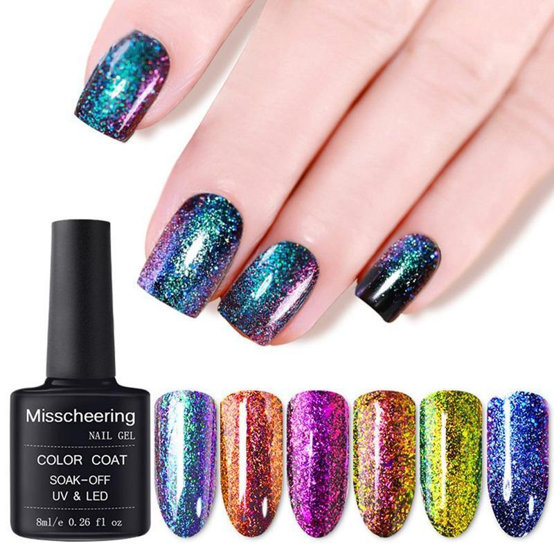 Chameleon Nail Polish 6ml Galaxy Starry Sky Glitter Nail Art Varnish ...