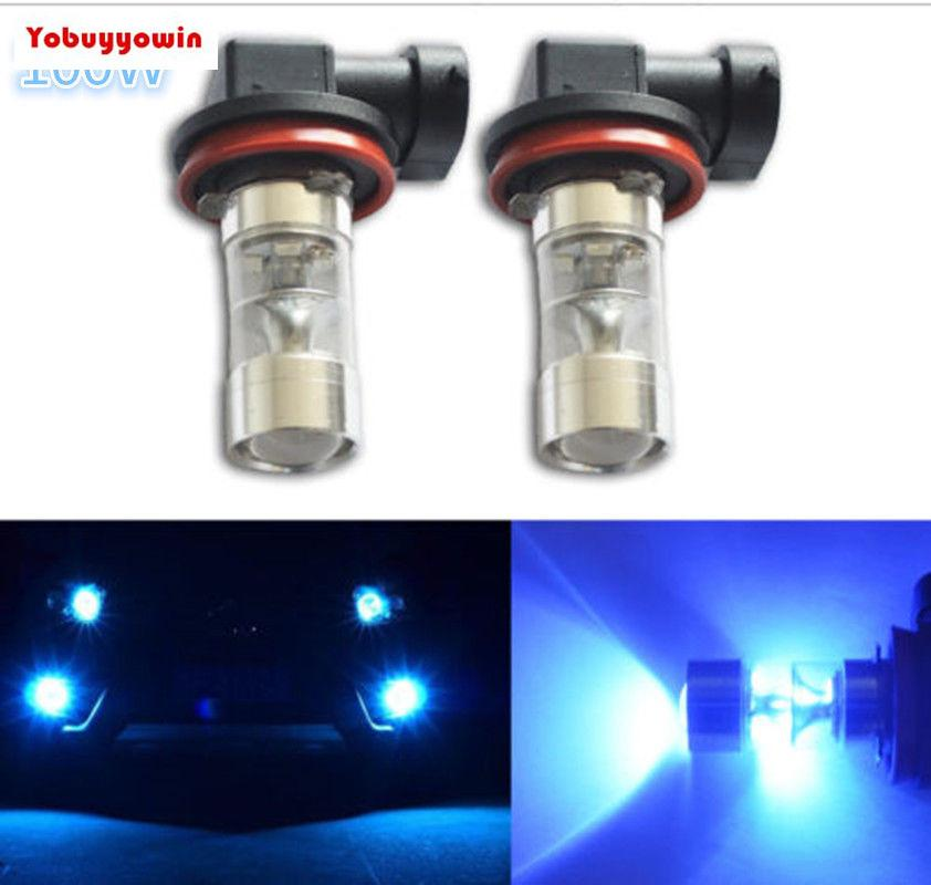 NEW 2PCS 100W LED 9145 H10 4300K YELLOW Projector Fog Light Bulbs US