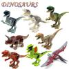 8pcs set 2015 New Arrival Jurassic World dinosaurs figures Variation Tyrannosaurus Assemble Blocks Classic Toy Best gift for boy