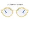 C4 Gold Rahmen Clear Lens