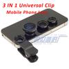 Fisheye lens 3 in 1 mobile phone clip lenses fish Eye Wide-Angle Macro for iphone XS iphone 8 7 samsung S10 note 8
