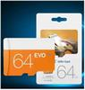 EVO 100% Real 64GB Micro SD Card Class 10 UHS-1 SDXC SDHC Transflash TF Card 64GB Single Card For Samsung Smartphone with Package