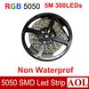 Flexible RGB multi-color SMD 5050 Led strip light DC12V 5m 300LEDs 14.4W m Non-Waterproof led string for house decoration lighting