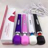 Hot selling 10 Speed Magic Wand Massager With Hitachi Head,AV Vibrator Magic Wand HandHeld Massager Colors box shipping
