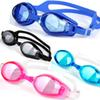 New silicone waterproof anti-fog swimming goggles pc lens unisex water sports swimming flat goggles adjustable colorful swimming goggles