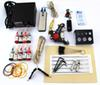 new 2015 Beginner tattoo guns kits complete one Pro tattoo machine gun power supply 9color inks grip needles pedal