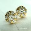 18K 18CT Yellow GOLD Filled With Swarovski Crystal Stud Earrings E100B