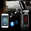 Wireless Vehicle Use MP3 Audio Player Bluetooth FM Transmitter FM Modulator Car Kits Handsfree, with LCD Display and USB Charger