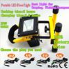 2015 Best 900lm portable floodlight Led 10w Rechargeable flood light IP65 Warm white white For outside Camping lamp with charger