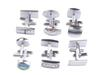 12 Sets of Fashion Mens Cufflinks Silver Gold Cuff Links