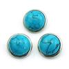 Fashion Noosa 18mm Ginger Snap Buttons Blue Turquoise Round Alloy Clasps Interchangeable DIY Jewelry Accessories NKC0071